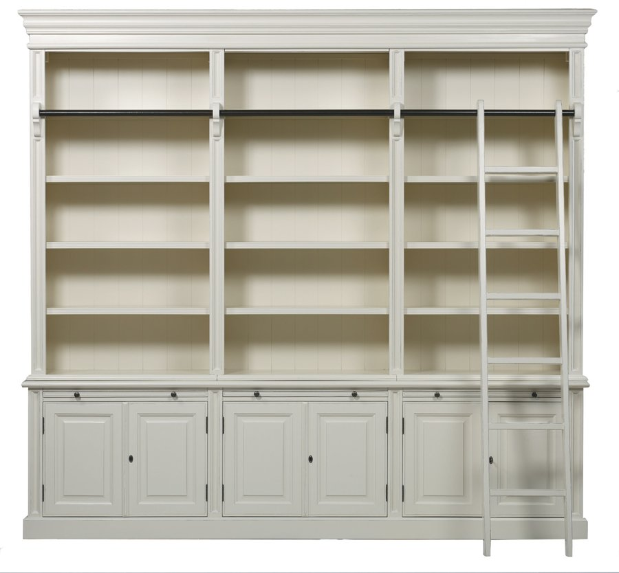 Bellahouse Classic 6 Door Bookcase With Ladder